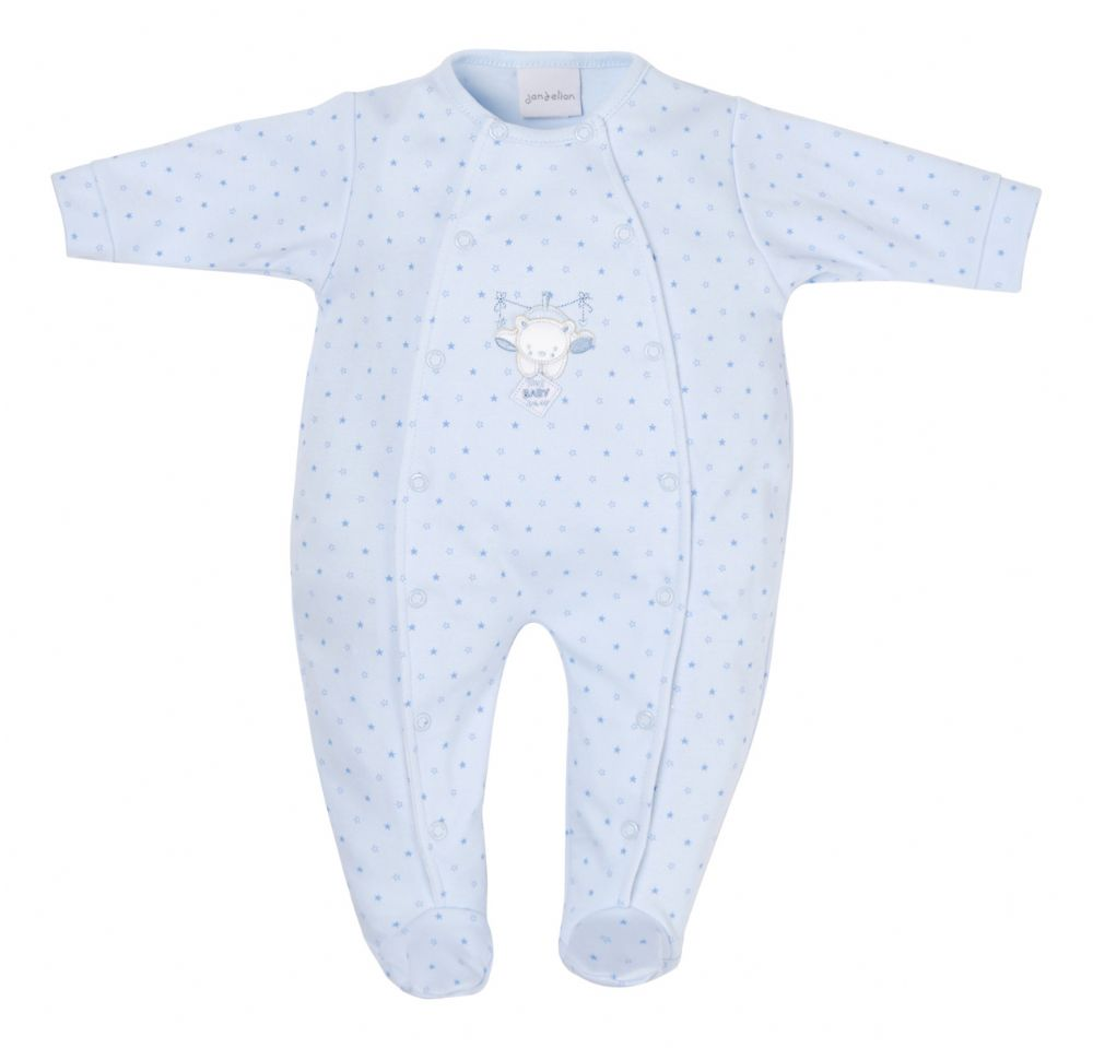 AV1870 Tiny baby bear star printed onesie (blue)